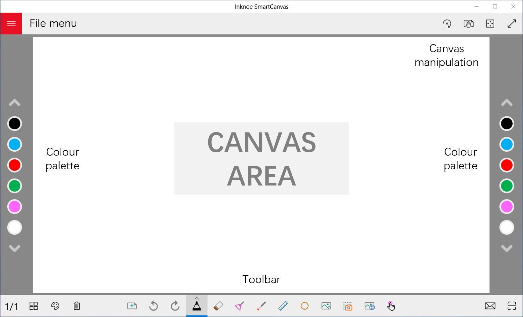 SmartCanvas interface