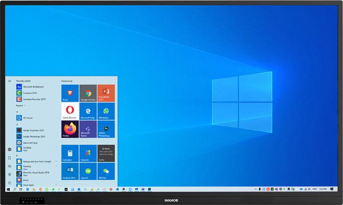 Windows 10 interface of OnePanel